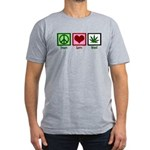 Peace Love Weed Men's Fitted T-Shirt (dark)