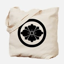 Rhombic chinese flower with swords in cir Tote Bag