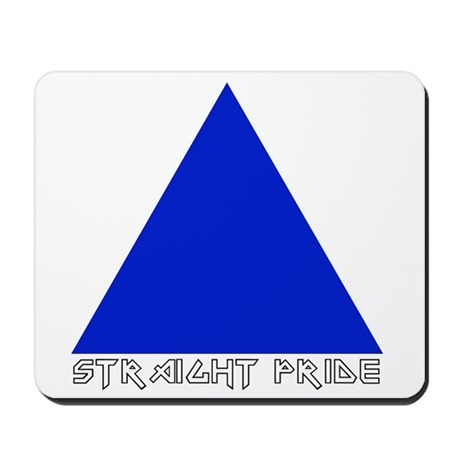 Straight Pride Metal Logo Mousepad