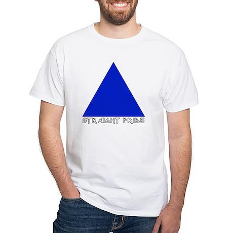 Straight Pride Metal Logo White T-Shirt