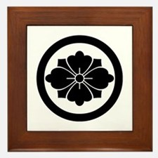 Rhombic chinese flower with swords in Framed Tile