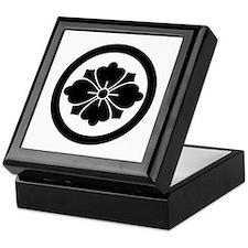 Rhombic chinese flower with swords in Keepsake Box