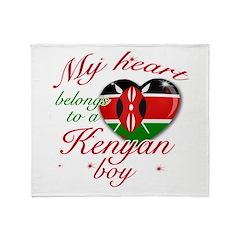 My heart belongs to a Kenyan boy Throw Blanket