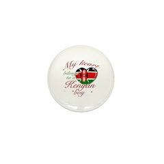 My heart belongs to a Kenyan boy Mini Button (100