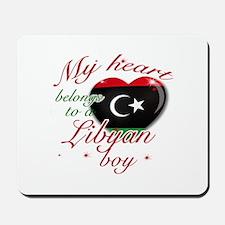 My heart belongs to a Libyan boy Mousepad