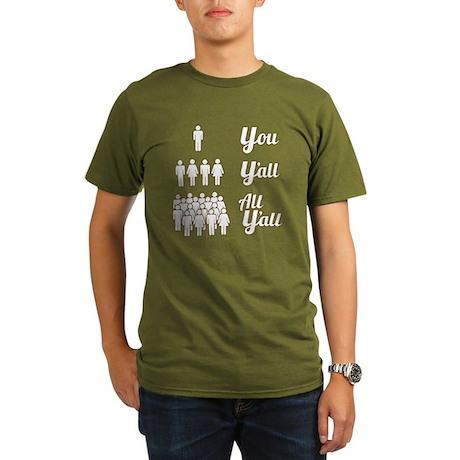 Texas Grammar Lesson Organic Men's T-Shirt (dark)
