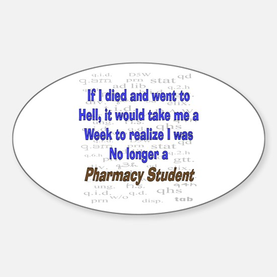 Pharmacist Humor Sticker (Oval)
