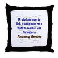 Pharmacist Humor Throw Pillow