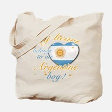 My heart belongs to an Argentine boy Tote Bag