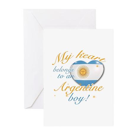 My heart belongs to an Argentine boy Greeting Card