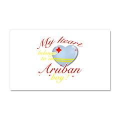 My heart belongs to an Aruban boy Car Magnet 20 x