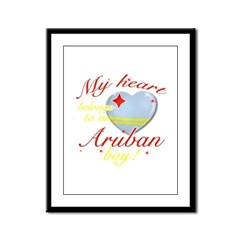 My heart belongs to an Aruban boy Framed Panel Pri