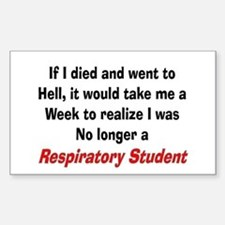Respiratory Therapy XXX Sticker (Rectangle)