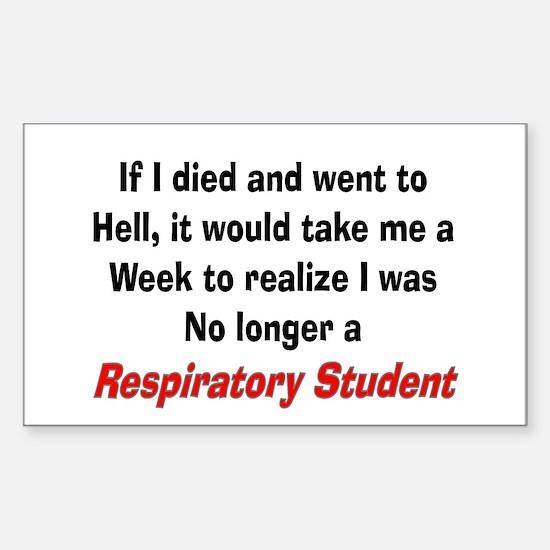 Respiratory Therapy XXX Sticker (Rectangle)