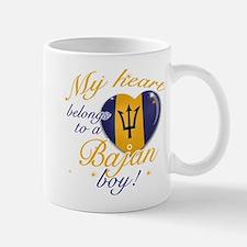 My heart belongs to a Bajan boy Small Small Mug