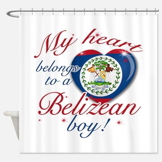 My heart belongs to a Belizean boy Shower Curtain