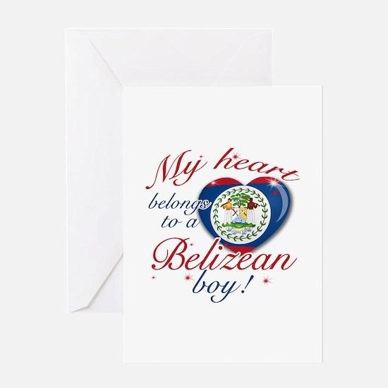 My heart belongs to a Belizean boy Greeting Card