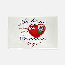 My heart belongs to a Bermudan boy Rectangle Magne