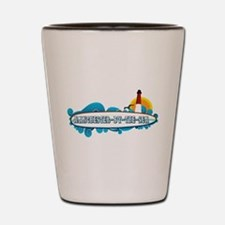 Manchester-By-The-Sea - Surf Design. Shot Glass