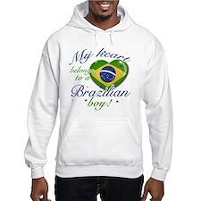 My heart belongs to a Brazilian boy Hoodie