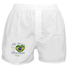 My heart belongs to a Brazilian boy Boxer Shorts