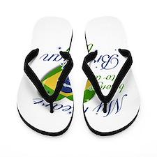 My heart belongs to a Brazilian boy Flip Flops