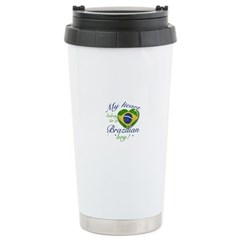 My heart belongs to a Brazilian boy Travel Mug