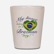 My heart belongs to a Brazilian boy Shot Glass