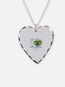 My heart belongs to a Brazilian boy Necklace