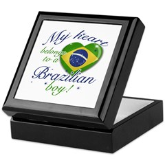 My heart belongs to a Brazilian boy Keepsake Box
