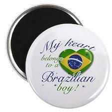 My heart belongs to a Brazilian boy Magnet