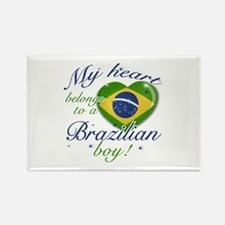 My heart belongs to a Brazilian boy Rectangle Magn