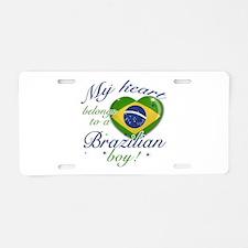 My heart belongs to a Brazilian boy Aluminum Licen