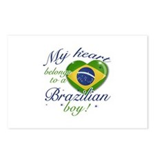 My heart belongs to a Brazilian boy Postcards (Pac