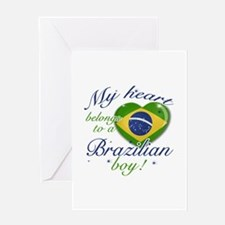 My heart belongs to a Brazilian boy Greeting Card