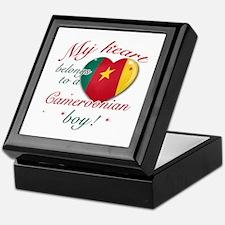 My heart belongs to a Cameroonian boy Keepsake Box