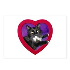 Cat in Heart Postcards (Package of 8)