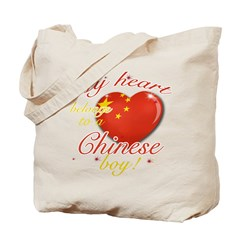 My heart belongs to a Chinese boy Tote Bag