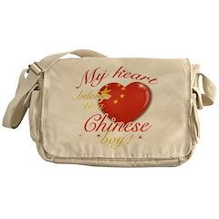 My heart belongs to a Chinese boy Messenger Bag
