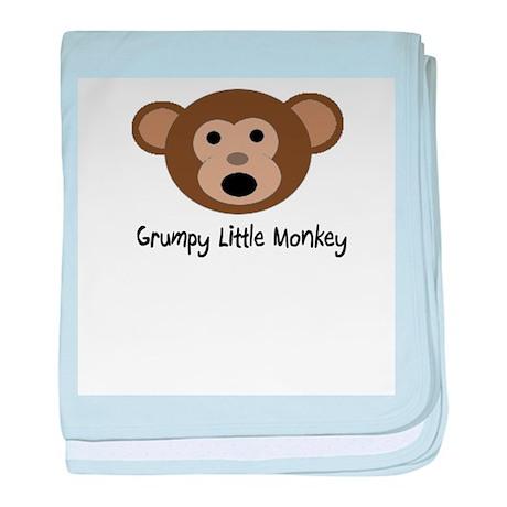 Grumpy Monkey Baby Blanket