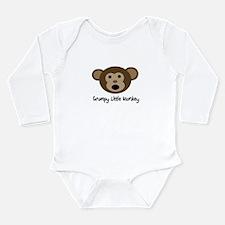 Grumpy Monkey Long Sleeve Infant Bodysuit