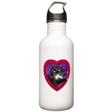 Cat in Heart Water Bottle