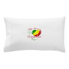 My heart belongs to a Congolese boy Pillow Case