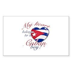 My heart belongs to a Cuban boy Decal