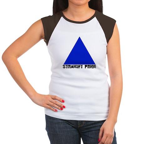 Straight Pride 'Broken' Logo Women's Cap Sleeve T-