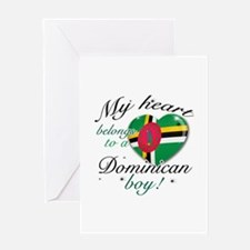My heart belongs to a Dominican boy Greeting Card