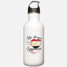 My heart belongs to an Egyptian boy Water Bottle