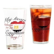 My heart belongs to an Egyptian boy Drinking Glass