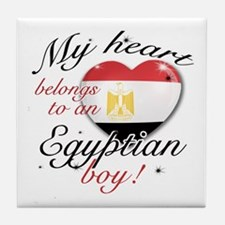 My heart belongs to an Egyptian boy Tile Coaster