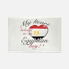 My heart belongs to an Egyptian boy Rectangle Magn